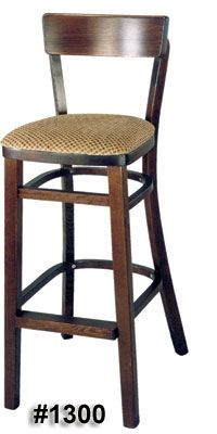 Rectangular back barstool #1300