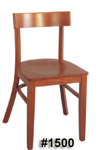 Rectangular back chair #1500